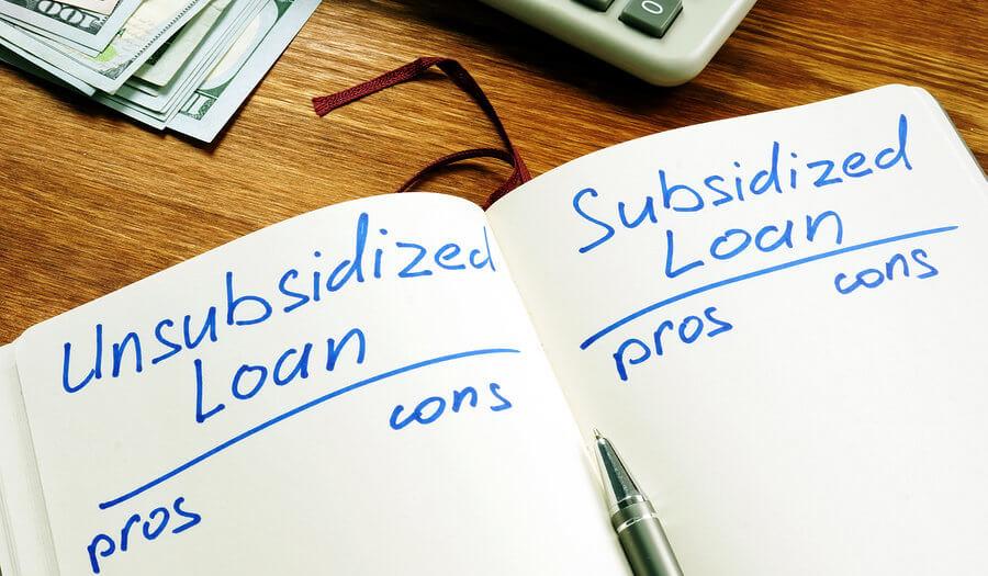 subsidized vs unsubsidized student loans