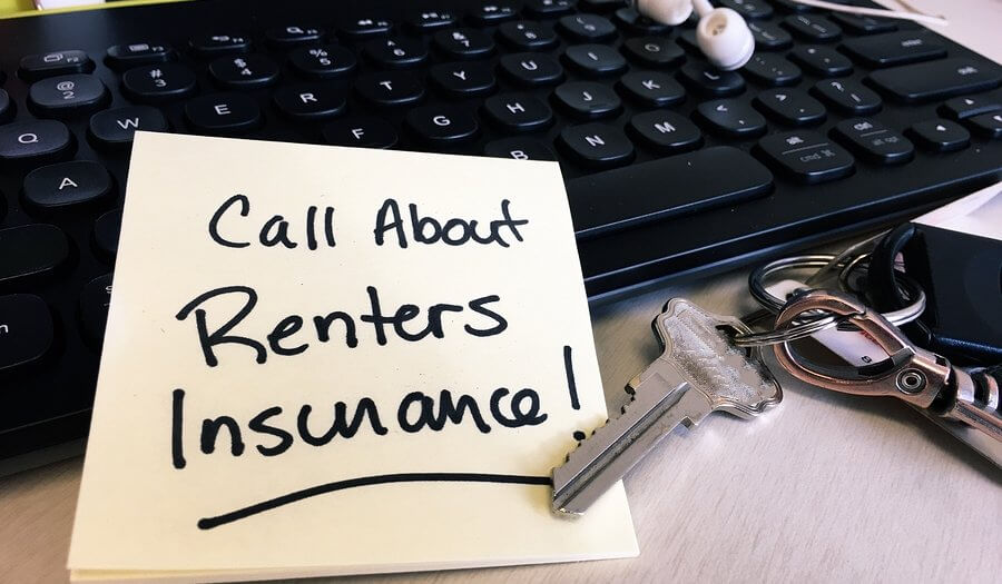 note with message to call about renters insurance