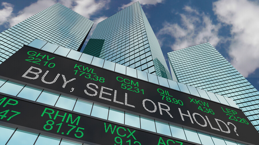 buy sell or hold on an electronic display