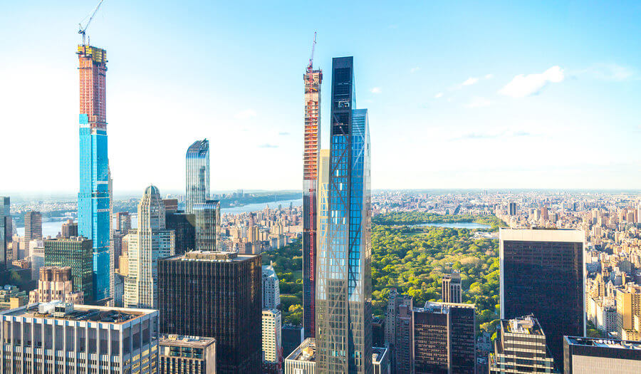 highrise buildings under construction
