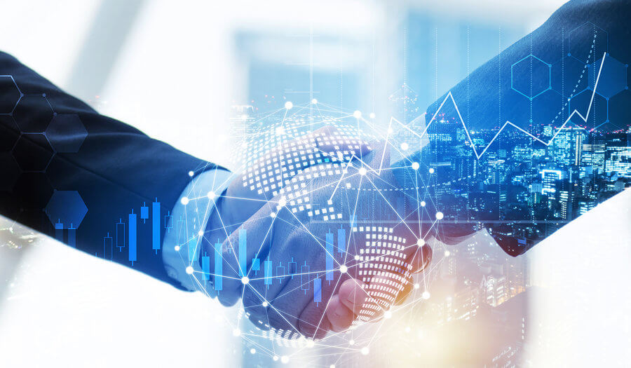 successful investors shaking hands