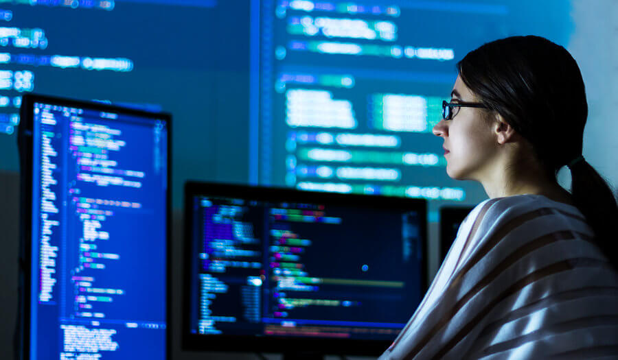 software developer lady
