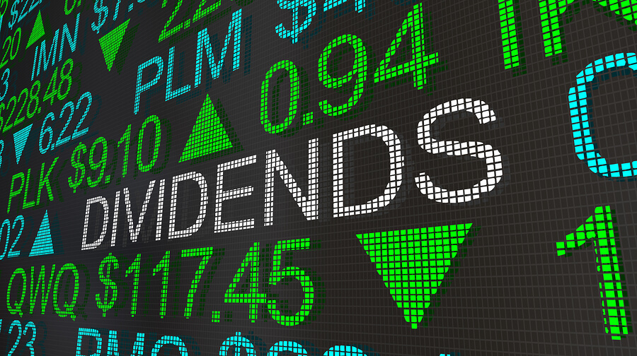 dividends on a electronic board
