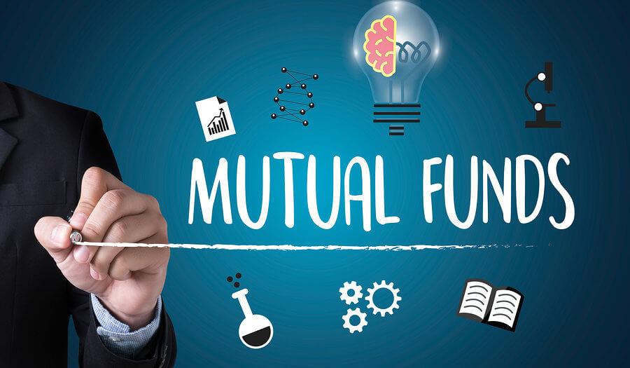 man writing mutual funds