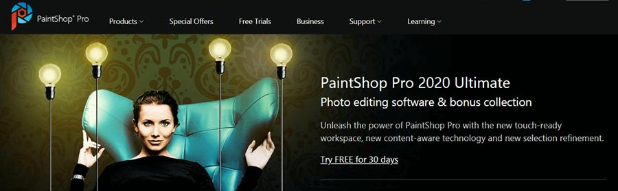 corel paintshop editing software