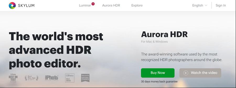 skylum aurora hdr editing software