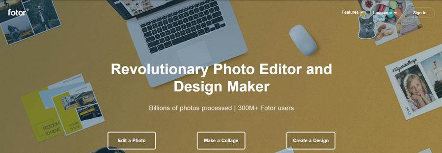 fotor photo editing software