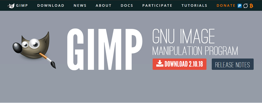 gimp free photo editing software