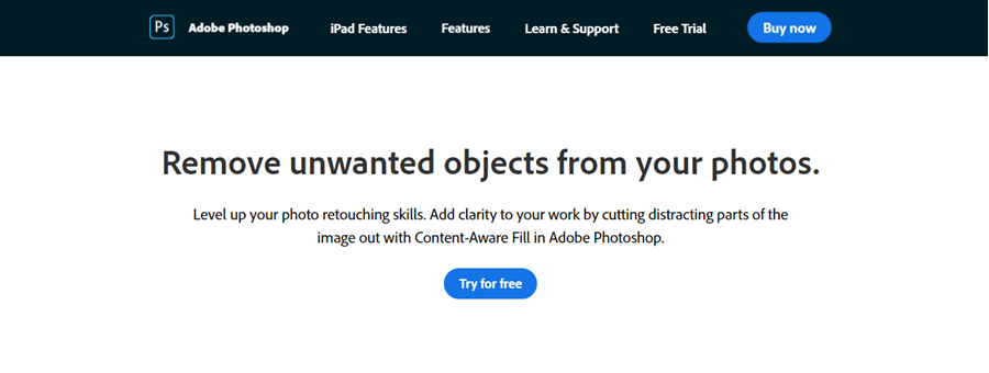 adobe photoshop content aware tool