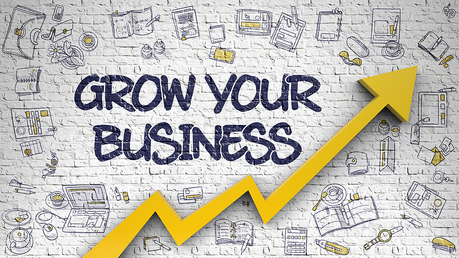 grow your business drawing on the wall