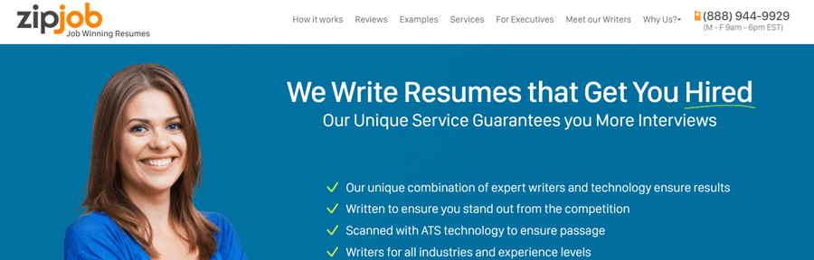zip job resume writing services