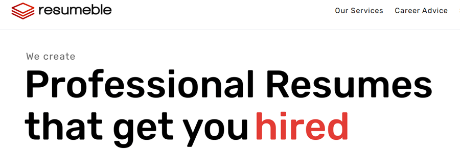 resumeble resume writing services