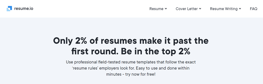 resume.io resume builder