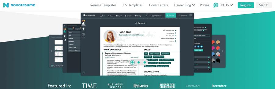 novo resume builder