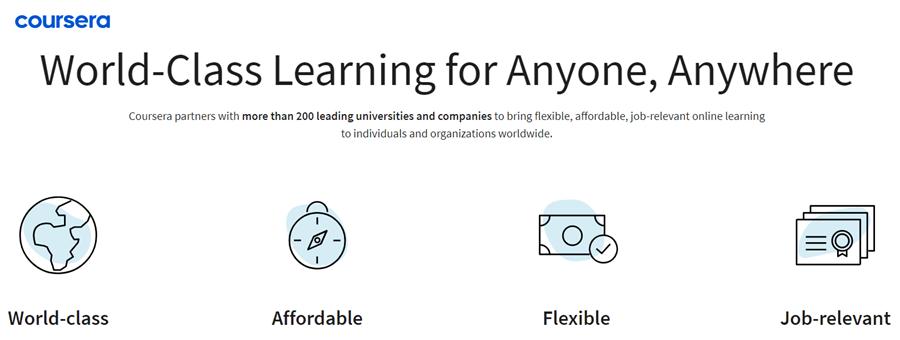 coursera online learning platform