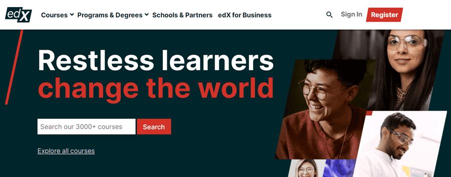 edX online learning platform